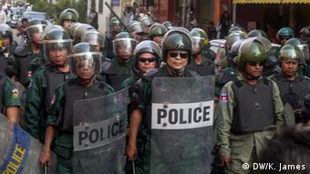Kambodscha Proteste Textilindustrie