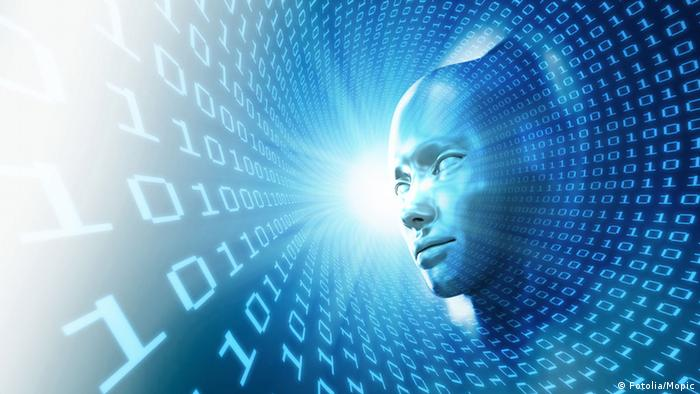 Head looking at digital data (Fotolia/Mopic)