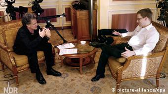 German television channel NDR interviews Edward Snowden (Photo: NDR/Knut Sodemann)