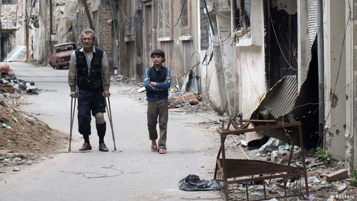 Fighters in Homs
