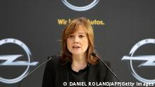 General Motors Mary Barra in Rüsselsheim