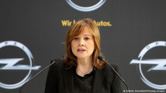 General Motors Mary Barra in Rüsselsheim (DANIEL ROLAND/AFP/Getty Images)