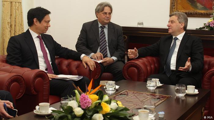 Gorge Ivanov und Hoyt Brian Yee 27.01.2014 in Skopje