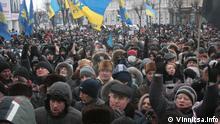 Massenproteste und die Besetzung der Administrationsgebäude in Winnyzja im Südwesten der Ukraine (25.01.2014); Copyright: Vinnitsa.info