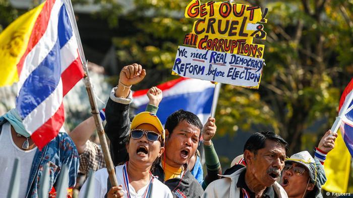 Thailand Bangkok Protest Anti-Regierungsproteste Protest Regierung