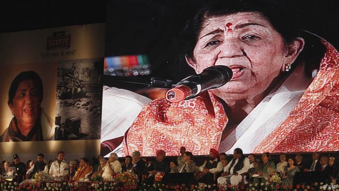 Lata Mangeshkar Sängerin aus Indien (UNI)
