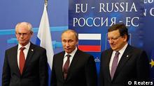 Putin mit Barroso und Van Rompuy in Brüssel 28.01.2014