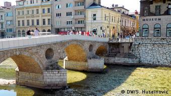 Ehemalige Princips Brücke in Sarajevo (Foto: DW/Samir Huseinovic)