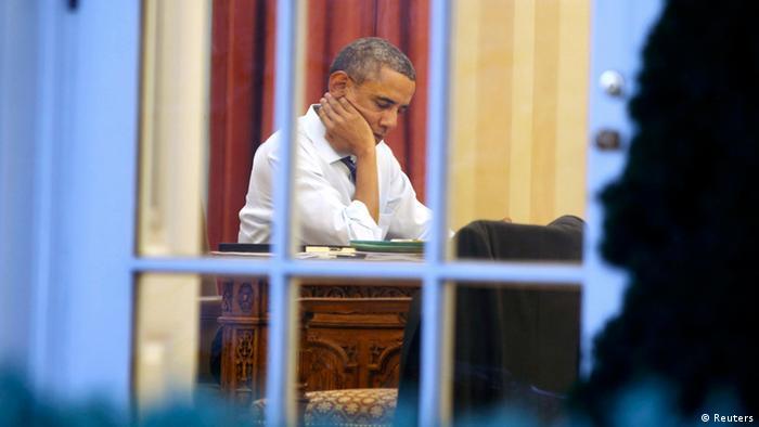US Präsident Barack Obama Vorbereitung zu seiner Rede zur Lage der Nation 28.01.2014 (Reuters)
