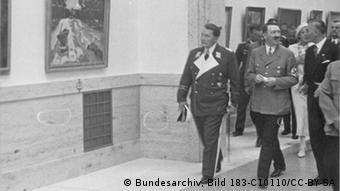Adolf Hilter and Hermann Göring at the House of Art museum in Munich in 1937