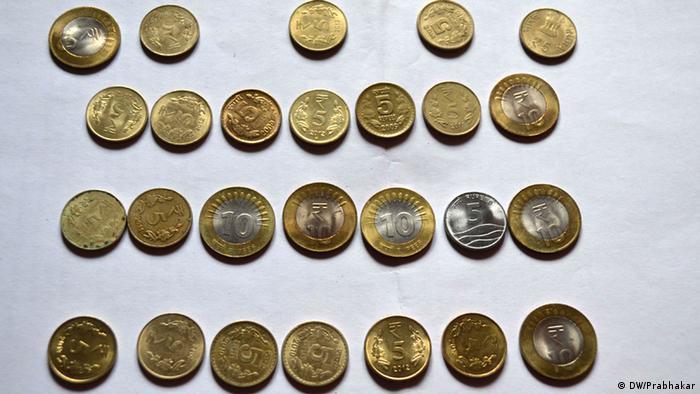 Indische Münzen (DW/Prabhakar)