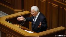 Ukraine Ex-Präsident Leonid Kravchuk redet im Parlament in Kiew