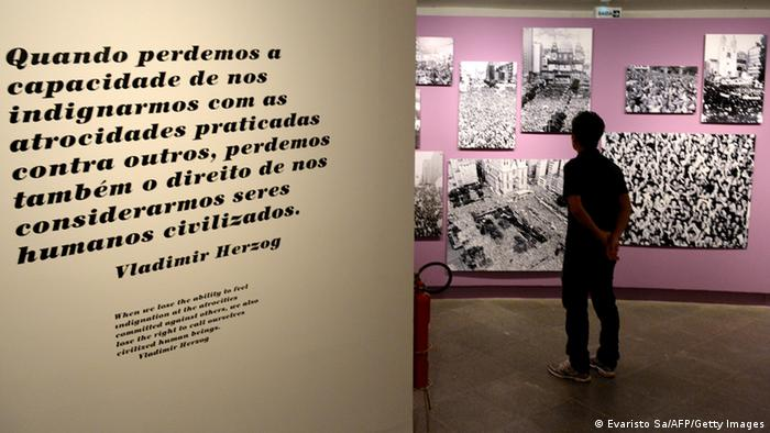 Exhibition in Brasilia about the dictatorship (Photo: EVARISTO SA/AFP/Getty Images)