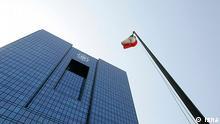 Iranische Zentralbank in Teheran mit iranischer Flagge Quelle: Isna