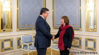Catherine Ashton Besuch in Kiew am 29.01.14