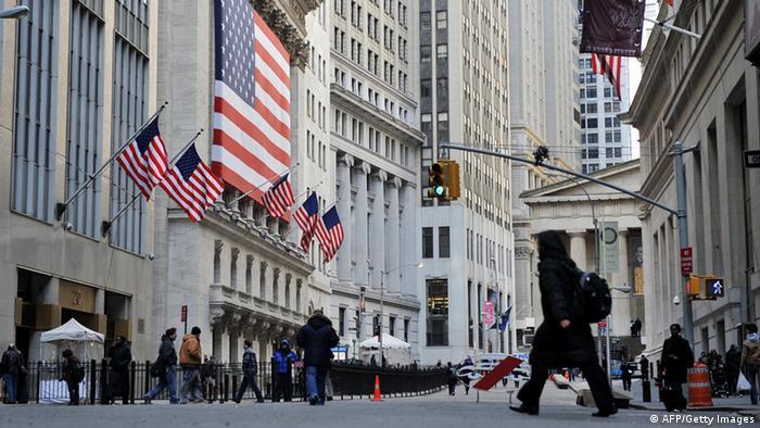 Ansicht Wall Street New York