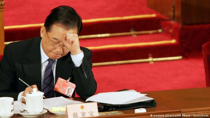 Wen Jiabao China Premierminister Ausschnitt
