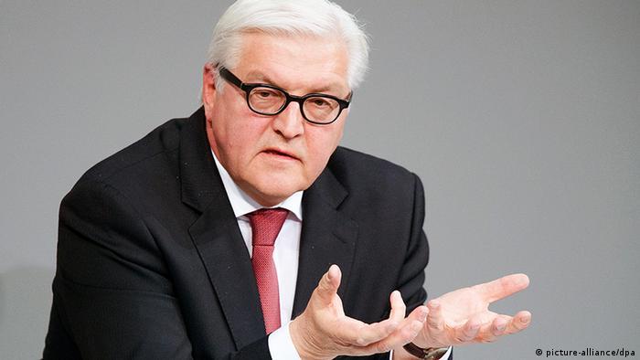 Франк-Вальтер Штайнмайер в бундестаге