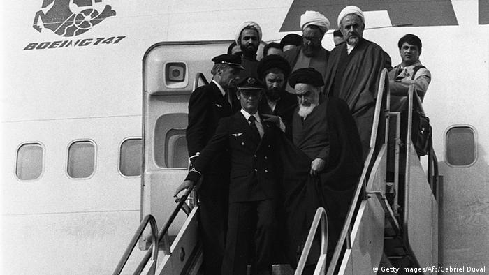 Ayatollah Khomeini kehrte am 1.2.1979 aus dem Exil in den Iran zurück (Foto:afp)