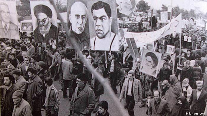 Anti-Schah-Demonstration in Teheran im Jahr 1978 (Foto: fanous.com)