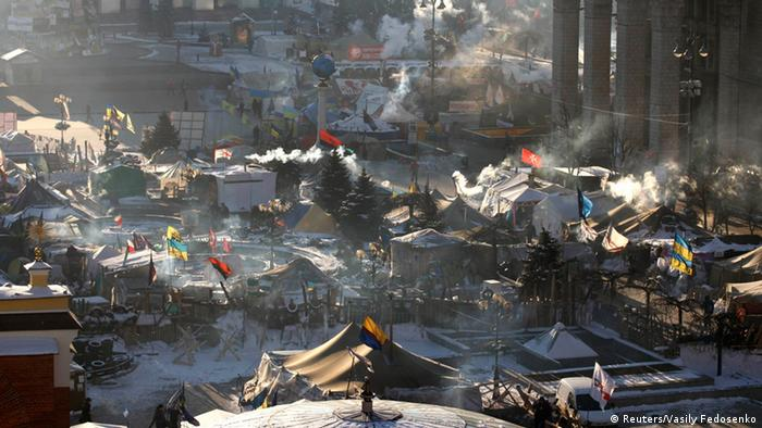 Protest tents in Kyiv (Photo: REUTERS/Vasily Fedosenko)