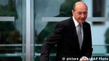 Präsident von Rumänien Traian Basescu in Berlin