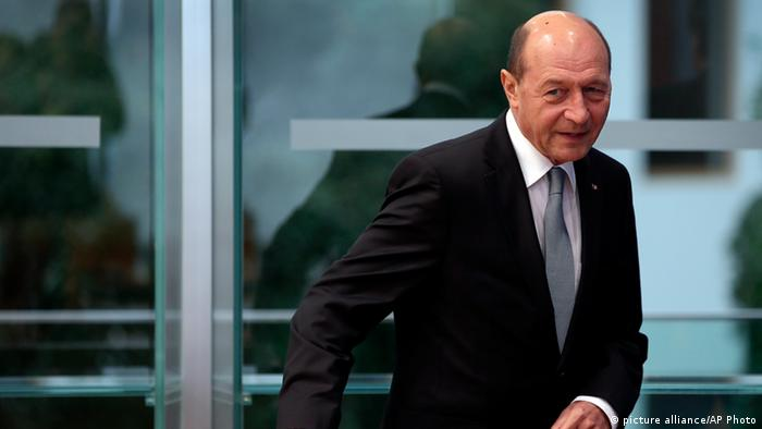 Präsident von Rumänien Traian Basescu in Berlin (picture alliance/AP Photo)