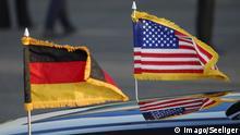Symbolbild Deutschland USA Flagge