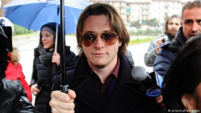Italian Raffaele Sollecito leaves the appeals court of Florence, in Florence, Italy, 30 January 2014