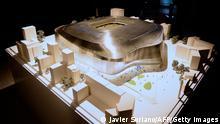 Modell des neuen Santiago Bernabeu-Stadions von Real Madrid