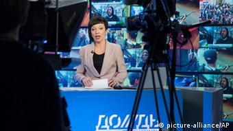 Russischer Fernsehsender Dozhd TV Anchor Maria Makeyeva