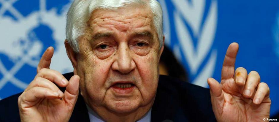 Al-Moualem afirma que espera a lista de organizações que não deverão participar do diálogo
