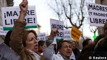 Protest Spanien Abtreibungsgesetz Abtreibung Madrid