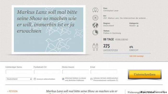 Open Petition für Markus Lanz (Foto: dpa)