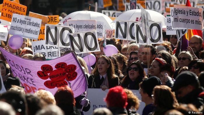 Proteste in Spanien für Recht auf Abtreibung