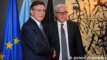 Bundesaußenminister Frank-Walter Steinmeier und Außenminister Leonid Koschara Sicherheitskonferenz München Bayern 2014
