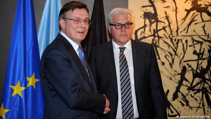 Леонид Кожара и Франк-Вальтер Штайнмайер, 2014 год