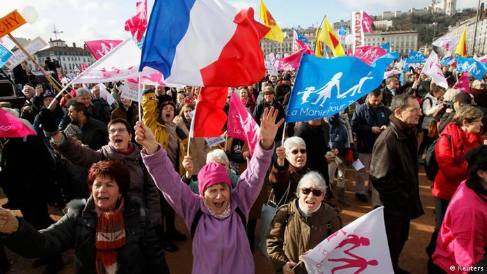 Lyon - Proteste Familienpolitik