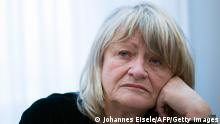 German journalist and feminist publisher Alice Schwarzer attends a press conference on November 15, 2013 in Berlin. AFP PHOTO / JOHANNES EISELE (Photo credit should read JOHANNES EISELE/AFP/Getty Images)