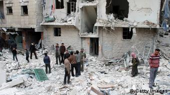شهر مخروبه حلب