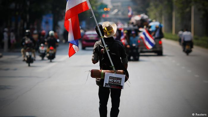 Thailand Protest Demonstranten Anti Regierung Wahl 3.2.14