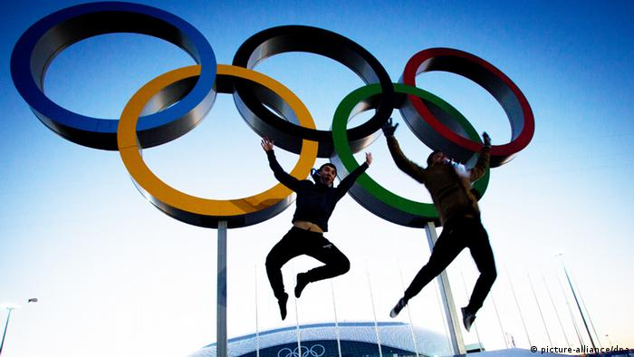 Olympic rings 2014 in Sotschi