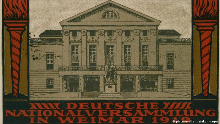 Nationaltheater Weimar Bildpostkarte 1919