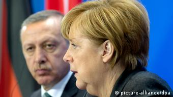 Меркель и Эрдоган на встрече в Берлине в феврале 2014 года