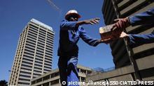 Bauarbeiter Afrika Großbaustelle Johnnesburg
