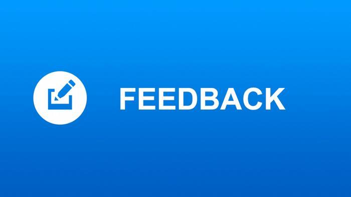 Symbol-Icon als Anklick-Button für die AfricaLink Webseite (Rubrik Feedback)