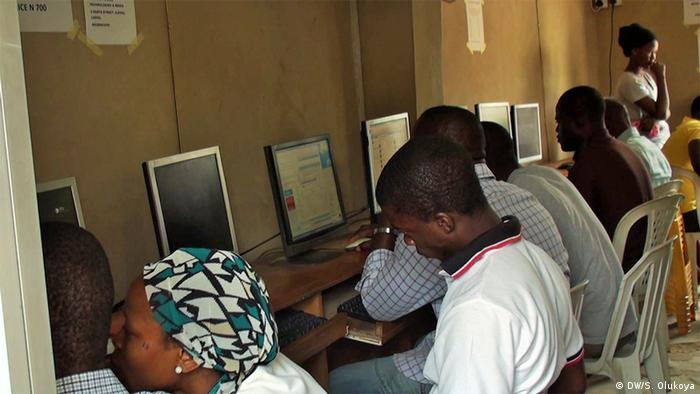 Cybercafe in Lagos Nigeria