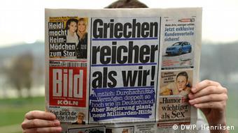 «Οι Έλληνες πιο πλούσιοι από μας», είναι ο πρωτοσέλιδος τίτλος της Bild