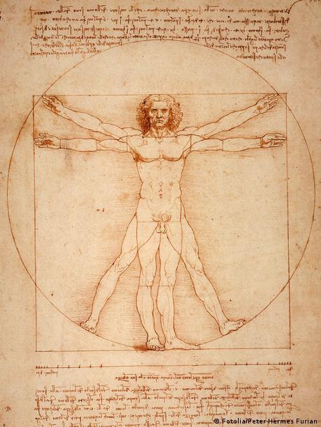 Leonardo da Vincis Der vitruvianische Mensch