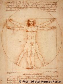 Desenho Homem vitruviano, de Leonardo da Vinci